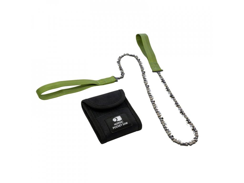 Kapesní řetězová pila Nordic Pocket Saw X-LONG pro dvě osoby - Green