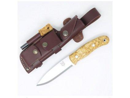Nůž TBS Boar Bushcraft Knife - Curly Birch - DC4 & TBS Firesteel Edition
