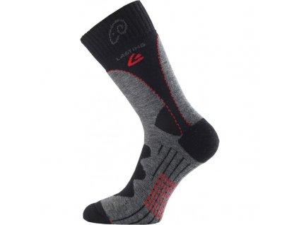 Ponožky Lasting TWA 85% Merino - šedočerné