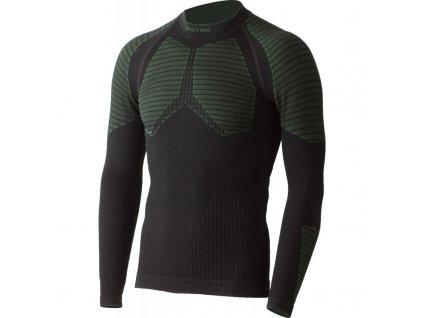 Vlněné bezešvé Merino triko WEROLO 300g - černé / zelené