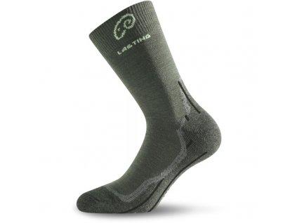 Ponožky Lasting WHI 70% Merino - zelené
