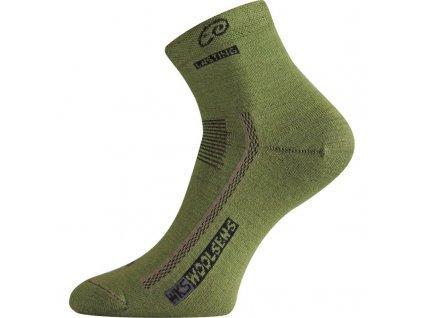 Ponožky Lasting WKS 70% Merino - zelené