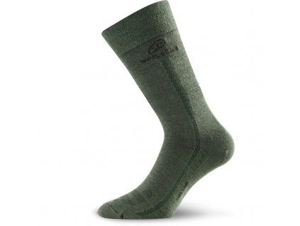 Ponožky Lasting WLS 70% Merino - zelené