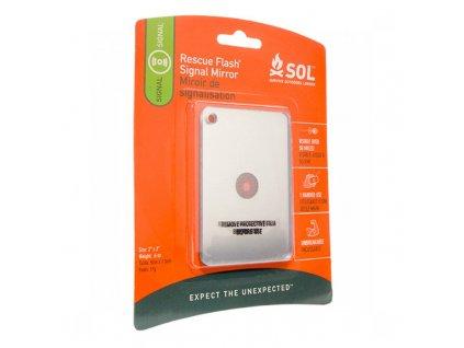 Signalizační zrcátko S.O.L. Rescue Flash Mirror Packaged