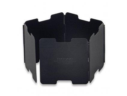 Závětří VARGO Aluminium Windscreen pro lihové vařiče - černé | 38g