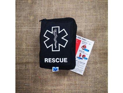 Lékárnička RESCUE First Aid - černá