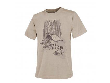 Tričko Helikon T-Shirt (Home Sweet Home) - Khaki