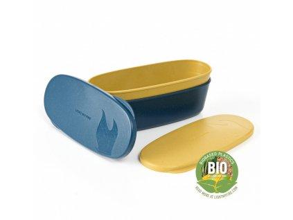 Light My Fire SnapBox BIO Oval 2-Pack mustyyellow / hazy blue