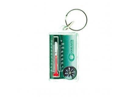 Teploměr s kompasem COGHLANS Thermo / Kompass Zipper - přívěšek
