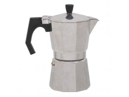 Hliníková Moka Konvice BasicNature Espresso Maker - 6 šálků