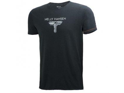 Tričko HELLY HANSEN Mjolnir Logo Tee - černé