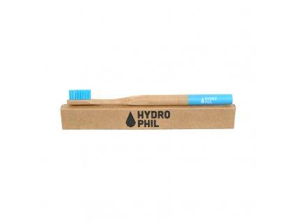 Bambusový kartáček na zuby HYDROPHIL Medium - modrý