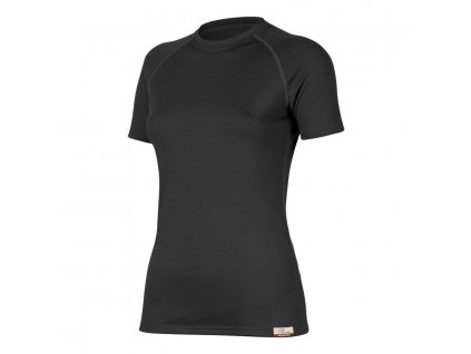 Dámské vlněné Merino triko ALEA 160g - černé