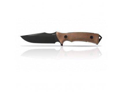 Nůž ANV M311 SPELTER MATTE BLACK/BROWN GRIP - KYDEX SHEATH