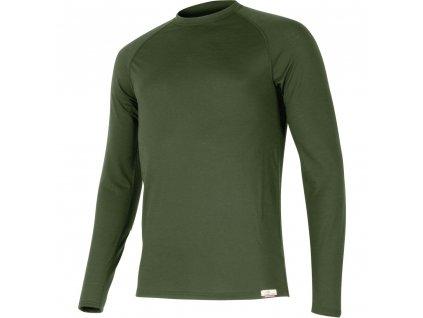 Vlněné merino triko ATAR 160g - tmavě zelené