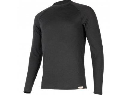 Vlněné merino triko ATAR 160g - černé