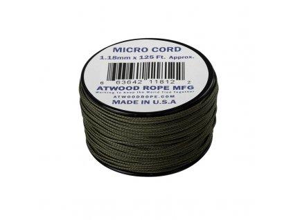 Padáková šňůra Micro Cord ATWOOD ROPE 37,5 m Olive Drab