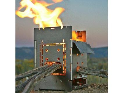 Turistický vařič DŘÍVKÁČ Firebox G2 Folding Stove
