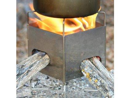 Titanium Turistický vařič DŘÍVKÁČ Firebox Gen2 Nano Ultralight Stove