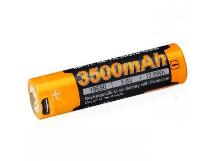 Dobíjecí USB baterie Fenix 18650 3500 mAh (Li-ion)