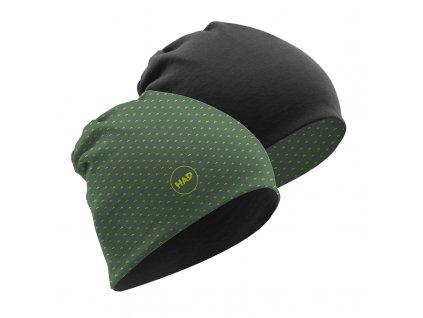 Čepice oboustranná H.A.D. 100% Merino Beanie - Tundra/Gray