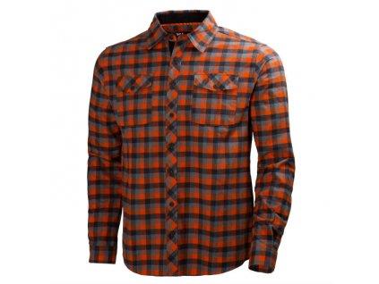 Košile dřevorubecká HELLY HANSEN Vancouver -  tmavě oranžová/šedá