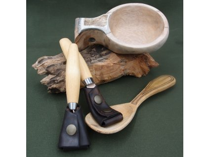 Kožené pouzdro JUBÖ na řezbářské nože MORAkniv a Beavercraft Carving