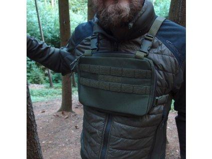 Hrudní brašna JUBÖ Front Bag MINI - zelená