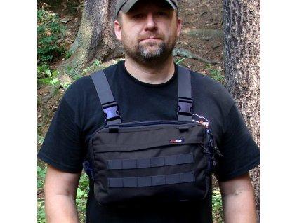 Hrudní brašna JUBÖ Front Bag Survival - černá