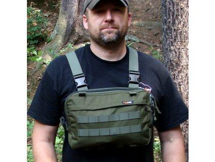 Hrudní brašna JUBÖ Front Bag Survival - zelená