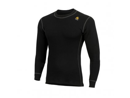 Merino triko Aclima WarmWool Crew Neck shirt 200g - Jet Black