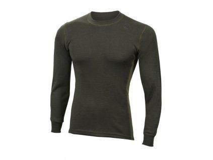 Merino triko Aclima WarmWool Crew Neck shirt 200g - Olive Night/Capulet