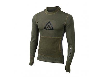 Merino mikina s kapucí Aclima WarmWool Hood Sweater 200g - Olive Night/Marengo