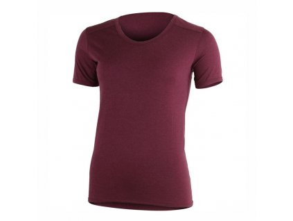 Dámské vlněné Merino triko Linda 160g - vínové