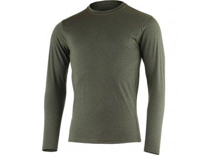 Vlněné merino triko LOGAN 160g - zelené