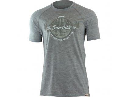 Pánské vlněné Merino tričko LUCAS šedé 160g