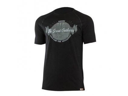 Pánské vlněné Merino tričko LUCAS černé 160g