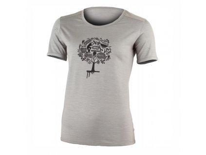 Dámské vlněné Merino triko Luna 160g - šedé