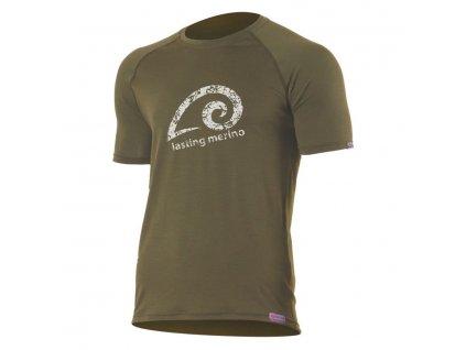 Pánské vlněné Merino triko MERIL 160g - zelené