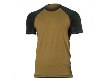 Pánské vlněné Merino triko OTO 160g - pískové