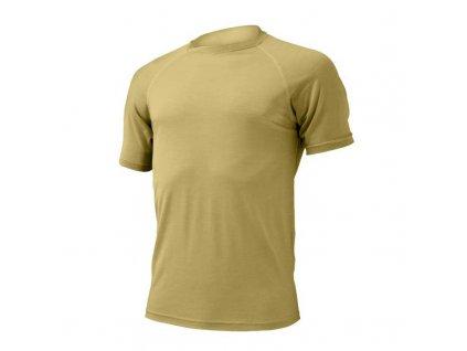 Pánské vlněné Merino triko QUIDO 160g - pískové