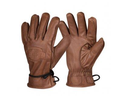 Zimní kožené rukavice HELIKON Ranger Winter Gloves - Brown