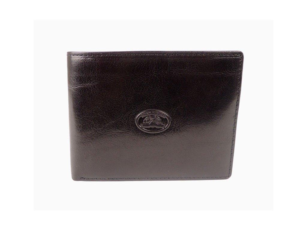98349d03742 Luxusní černá pánská kožená peněženka Tony Perotti