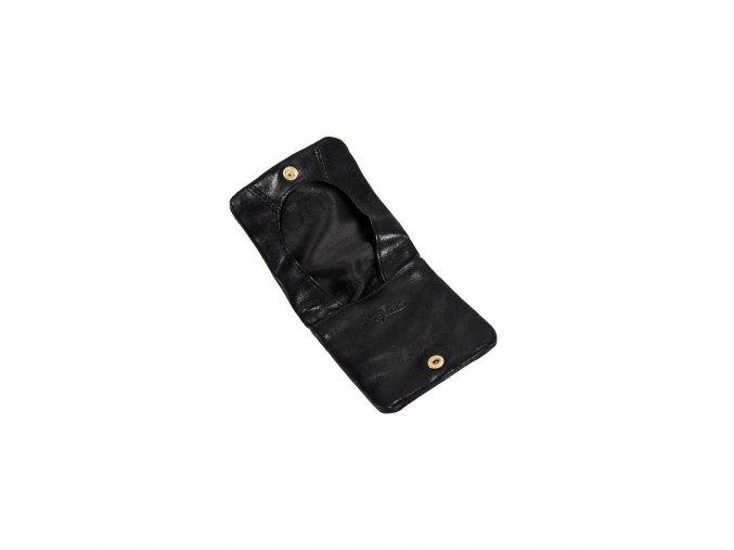 Kožená peněženka na drobné Tony Perotti,Černá