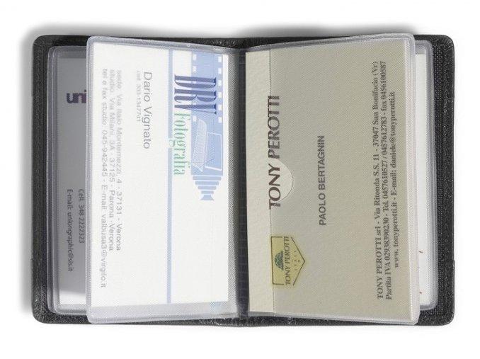 Kožené pouzdro na vizitky a karty Tony Perotti, tm. hnědé