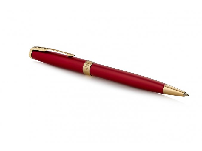 Parker Sonnet Red Laque GT, kuličkové pero  + praktický zápisník FLEMMING ZDARMA