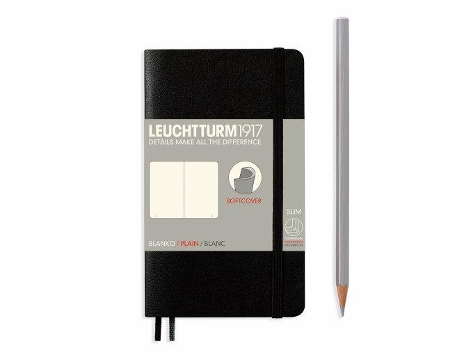 notizbuch pocket a6 softcover 121 nummerierte seiten schwarz blanko