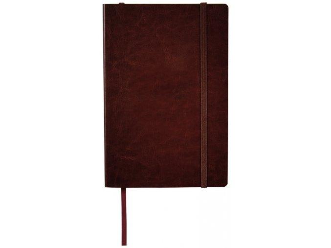 Zápisník z PU kůže A5, hnědý