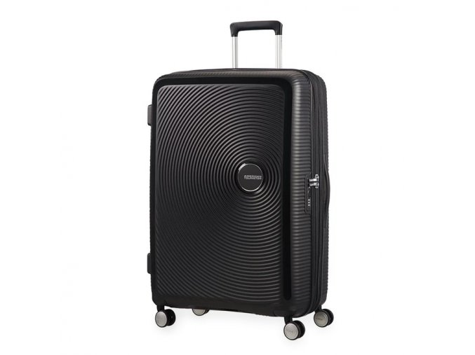 American Tourister kabinový kufr Soundbox spinner 55 exp, Bass Black