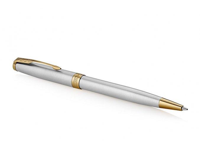 Parker 1502/5231507 Royal Sonnet Stainless Steel GT kuličkové pero  + NÁHRADNÍ NÁPLŇ modrá M zdarma